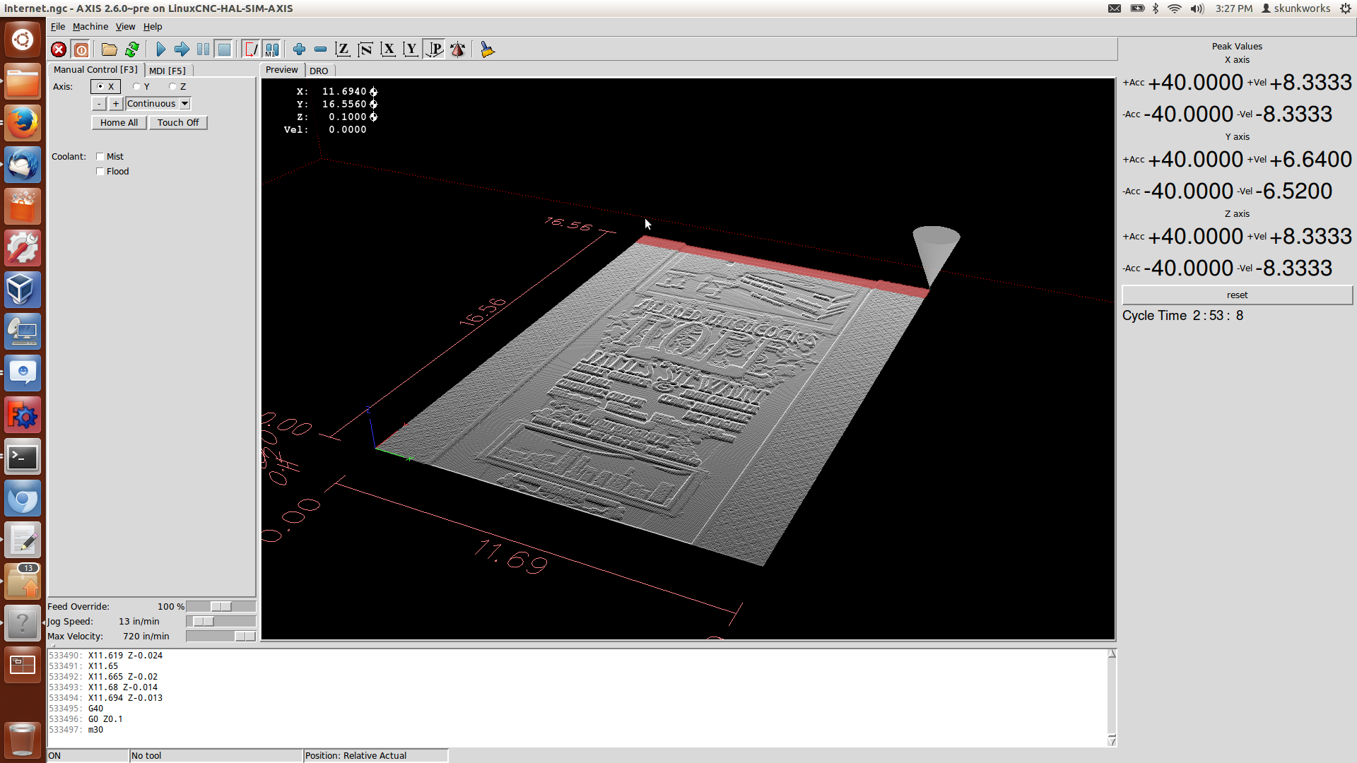 LinuxCNC (formerly EMC2) > New Trajectory Planner - Testers
